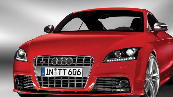 2009 Audi TTS Front Pose In Red